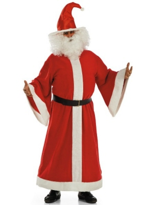 l_27005 costume babbo natale t.u. in pile lungo in busta 76.95